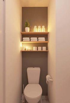 Inspirations Decorating your toilet Decoration for the best .- Inspirationen Dekoration Ihrer Toilette Dekoration zum Besten von Toiletten Rhinov Inspirations Decoration of your toilet Decoration for the best of toilets Rhinov - Small Downstairs Toilet, Small Toilet Room, Downstairs Bathroom, Small Toilet Decor, Master Bathroom, Small Toilet Design, Bathroom Art, White Bathroom, Toilet Room Decor