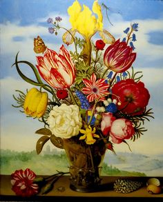 Ambrosius Bosschaert the Elder (1867 - 1947) was a still life painter of the Dutch Golden Age