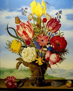 Ambrosius Bosschaert the Elder (1867 - 1947) was a still life painter of the Dutch Golden Age