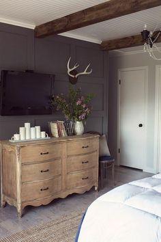 dark gray rustic room