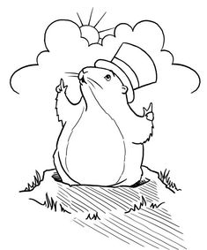 Enjoy Coloring In Our Good Friend Punxsutawney Phil Today Are You