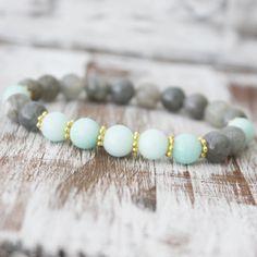 Gemstone Bracelet - Amazonite and Labradorite