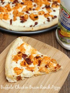 Buffalo Chicken Bacon Ranch Pizza. An easy and delicious pizza that combines the flavors of ranch dressing with buffalo chicken and bacon. A great weeknight meal. #shop #CollectiveBias #FoodDeservesDelicious
