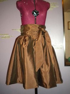 Brown puffy dress. No patterns, pure creation! 5 hours...