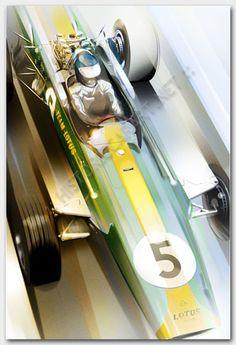 Jim Clark Lotus 49 by Frederic Dams