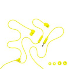 Color Headphones In-Ear Yellow now featured on Fab.
