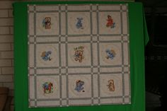 Quilt with teddy bear embroidery design - Old Toys art and embroidery - Gallery - Machine embroidery forum