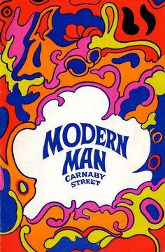 Modern Man mail order catalogue, 47a Carnaby Street,London W.1. (1967) Modern Hippie, Hippie Art, Hippie Style, Hippie Chic, Graphic Illustration, Graphic Art, 60s Art, Logos Retro, Carnaby Street