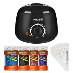Wax Warmer, Hair Removal Waxing Kit, Upgraded Wax Heater with 4 Colors Hard Wax Beans + 20 Wax Applicator Sticks by Aimike. For product & price info go to:  https://beautyworld.today/products/wax-warmer-hair-removal-waxing-kit-upgraded-wax-heater-with-4-colors-hard-wax-beans-20-wax-applicator-sticks-by-aimike/