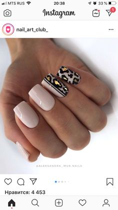 Cheetah nails with pink Classy Nails, Fancy Nails, Pretty Nails, Hot Nails, Pink Nails, Hair And Nails, Leopard Nails, Nude Nails, Acrylic Nails