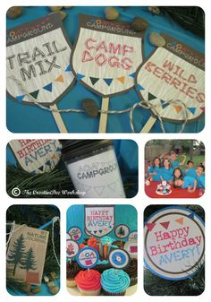 Camping Party- Girl Theme- via Etsy.