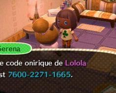 Campement, Club Tortimer , Lolola la ville ANIMAL CROSSING: NEW LEAF de Léopoldine. Code onirique : 7600-2271-1665
