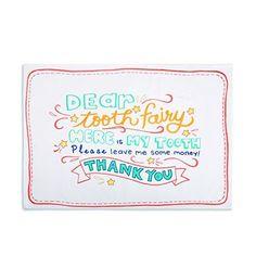 Pillowcase for Children (Dear Tooth Fairy)
