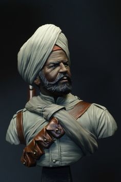 Sikh 1914 by David Lane · Putty&Paint Indian Army, Fantasy Miniatures, Knights Templar, British Colonial, Reference Images, Plastic Models, Hobbies And Crafts, Scale Models, Sailor