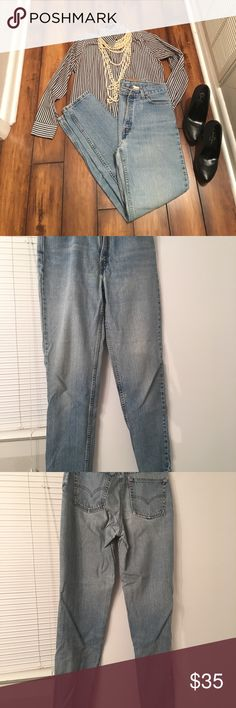 Vintage 512 Long Levi's Good used condition!  Flaws are in pictures.  Slim tapered leg fit. Measurements 31 w; 42 hip; 12 r; 32 l.  Make an offer!😁 Levi's Jeans