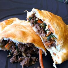 """The Adventures of Kitchen Girl: Asian Style Beef """"Hot Pockets""""  #recipe"""
