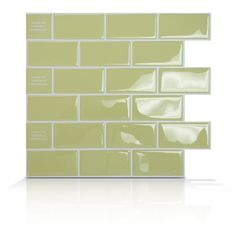 """Peel and stick """"pre grouted"""" backsplash tile from SmartTiles ... neat concept can find at Lowes, Home Depot."""