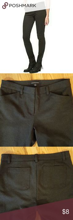 """Charcoal grey ponte knit pants Andrew Marc Pinterest knit pants in charcoal. Stretchy and forgiving. Excellent condition. 27"""" inseam. Andrew Marc Pants Skinny"""