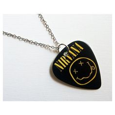 Guitar Pick Necklace- with the T on it Nirvana, Guitar Pick Jewelry, Guitar Pick Necklace, Emo Jewelry, Unique Jewelry, Jewelry Necklaces, Long Necklaces, Jewlery, Silver Jewellery Indian