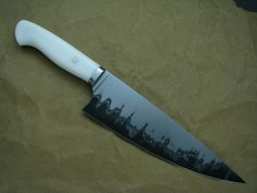 Laminated kitchen knife by Phillip Patton (http://www.pattonblades.com)