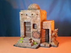Nativity House, Diy Nativity, Mud House, Scale Models, Minecraft, Whimsical, Christmas Crafts, Bethlehem, Wallpaper