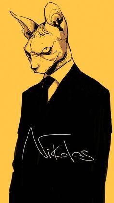 Nikolas by Zarnala on DeviantArt Gangsta Anime, Mystical Animals, Cute Characters, T Rex, Furry Art, Comic Books Art, Pixel Art, Art Reference, Cool Art