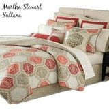 martha stewart sultana twin duvet cover set red taupe