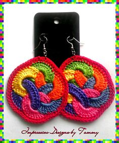 Mexicana Mesh Crochet Hoop Earrings by ImpressiveDesigns on Etsy
