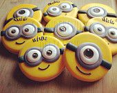 Two Dozen Minion Inspired Decorated Cookies
