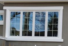 Craftsman style trimmed window, on a new home.. click pick and join us on facebook.