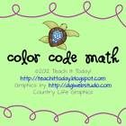 This is a fun color code sheet that reinforces basic addition facts.  Students should solve all of the problems and then color each section based o...