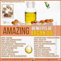 ☛ Do YOU use Argan Oil?  It is an amazing oil. I use it on my hair, skin, food and so much more.  FOR ALL THE INFORMATION READ OUR ARTICLE:  http://www.stepintomygreenworld.com/greenliving/greenbeauty/the-many-wonders-of-argan-oil/  ✒ Share | Like | Re-pin | Comment