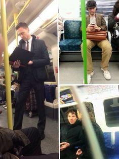 I want to ride on the London Underground! Tom Hiddleston, David Tennant, and Benedict Cumberbatch Marvel Dc, Marvel Actors, Marvel Funny, Marvel Memes, David Tennant, Sherlock Bbc, Benedict Cumberbatch, Moving To England, Tom Hiddleston Loki