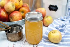 How to make homemade apple cider vinegar. You can make apple cider vinegar from apple scraps, including the core and the peel. You'll spend about 5 minutes preparing it, and then it needs to sit for 6 weeks until it's done. Then it's shelf stable and can be used for food recipes or for your hair and skin. This makes apple cider vinegar with the mother so you can use it to start a new batch so it doesn't take as long.