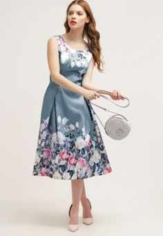 Chi Chi London MEGAN - Sukienka letnia - navy/flora - Zalando.pl ...