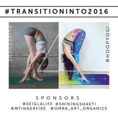 #TransitionInto2016 January 1-31  It's 2016! Join us for a month long challenge of transitioning from one year into the other and from on pose into the next!  Who's ready for a whole month of challenging yourself and having opportunities to win fantastic prizes from our sponsors!? Both @hoopyogi and @libernans will be posting the poses each night. We will post the next days pose the night before to give you time to look it over and get ready to nail it the next day for your post!  All levels…