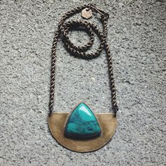 Arc Necklace with Turquoise