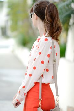 cute work outfit with polka dots M Loves M @marmar