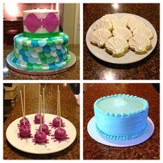 Mermaid Cake, Seashell Cookies, Octopus Cake Pops, Smash Cake