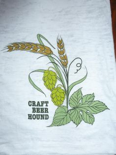Women's Long Sleeve Burnout T-shirt with Hops and Barley Graphic | Craft Beer Hound