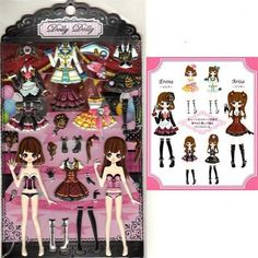 Q-Lia Dolly Dolly Colorforms Stickers with Jewels: Erena & Arisa