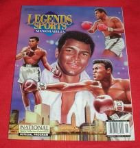 Rare MUHAMMAD ALI 2001 National Sports Collector Convention Official Program with Legends GOLD CARDS