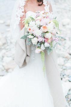 Photography: Christine Pienaar Photography  - www.christinepienaarphotography.com  Read More: http://www.stylemepretty.com/canada-weddings/2014/12/09/canadian-rocky-mountain-pastel-wedding/