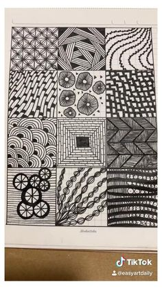 Easy Doodle Art, Doodle Art Designs, Doodle Art Drawing, Zentangle Drawings, Mandala Drawing, Zentangle Patterns, Zen Doodle Patterns, Doodles Zentangles, Pattern Drawing