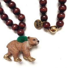 Pirates & Ponies GOLD Bear necklace