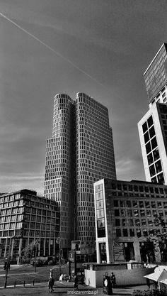 #Berlin #modern #architecture #towers #bw photo #arekzaremba #mobilephoto #htc