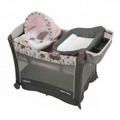 Minnie's Garden Premier Pack 'n Play® Playard with Cuddle Cove™ Rocking Seat from Graco®