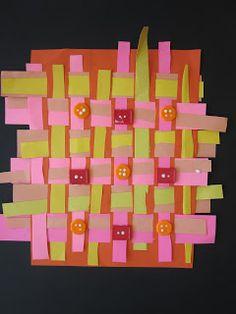 First grade paper weavings