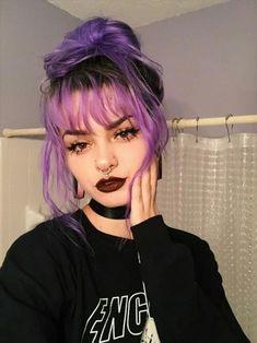 Girl Hair Colors, Hair Dye Colors, Pretty Hairstyles, Girl Hairstyles, Drawing Hairstyles, Hair Color Streaks, Punk Hair Color, Goth Hair, Punk Girl Hair