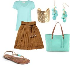 """Light Spring- aqua"" by adriana-cizikova on Polyvore"